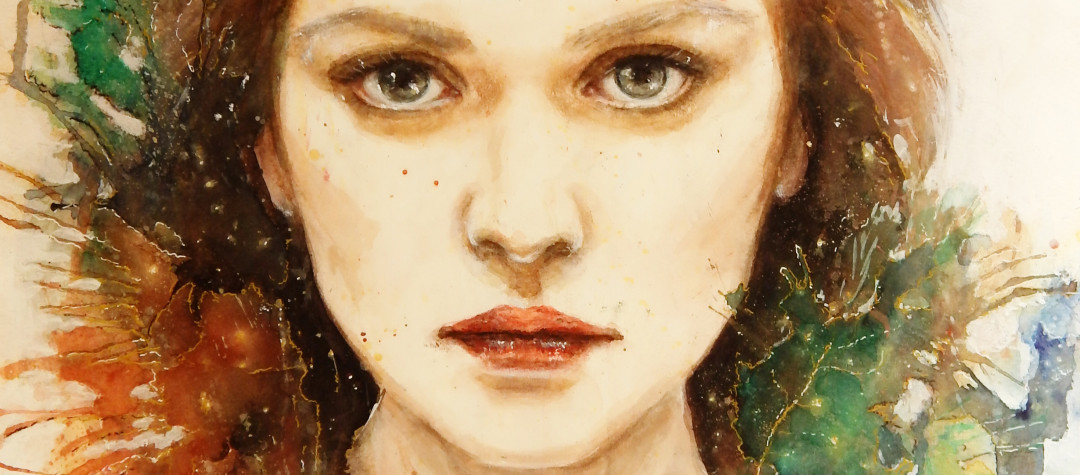 Aquarellmalerei, Malerei, Aquarell Kunst, moderne Kunst, Aquarell Portrait, Autumn