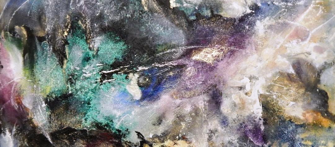 abstrakte Malerei, Acrylgemälde, moderne Kunst, Acryl auf Leinwand, Abstrakte Malerei, Acryl und Struktur auf Leinwand