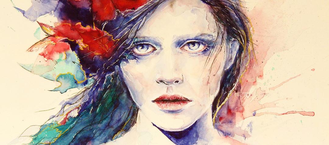 Aquarellmalerei, Malerei, Aquarell Kunst, moderne Kunst. Portrait, Aquarellportrait
