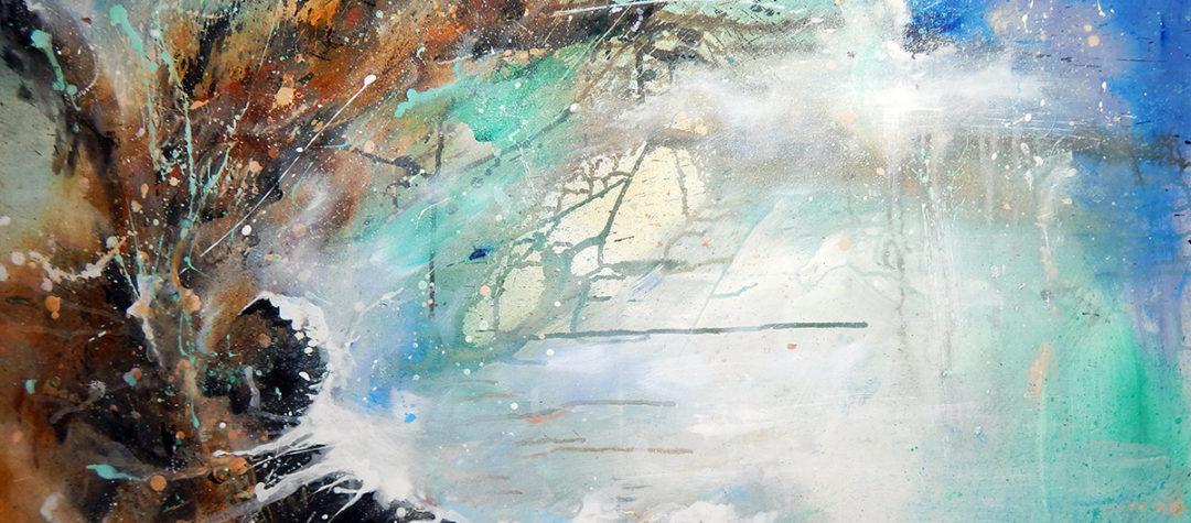 abstrakte Malerei, Acrylgemälde, moderne Kunst, Acryl auf Leinwand, Abstrakte Malerei