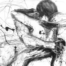 Moderne Malerei, Acryl und Lack auf Leinwand